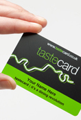 SAVE with tastecard