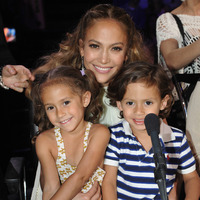 J Lo with her children