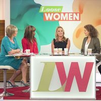 ITV1's Loose Women filmed on 01 Sep 2015 with Ruth Langsford, June Sarpong, Tamzin Outhwaite, Nadia Sawalha and Janet Street-Porter.